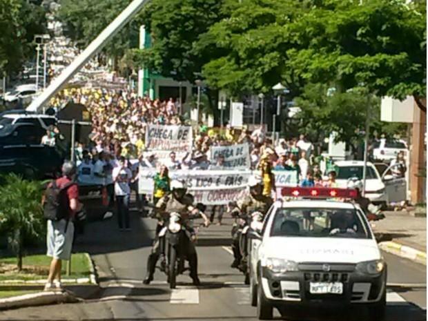 chapecó, protesto