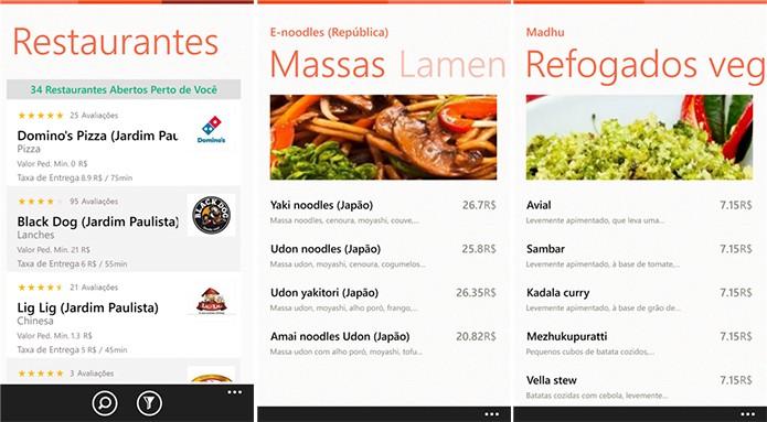 Hello Food é um aplicativo para Windows Phone com o qual usuários podem pedir comida (Foto: Divulgação/Windows Phone Store)