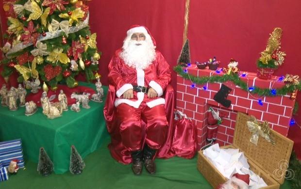 Papai Noel dos Correios vai atender pedidos de crianças de seis creches e duas escolas por meio de doações (Foto: Acre TV)