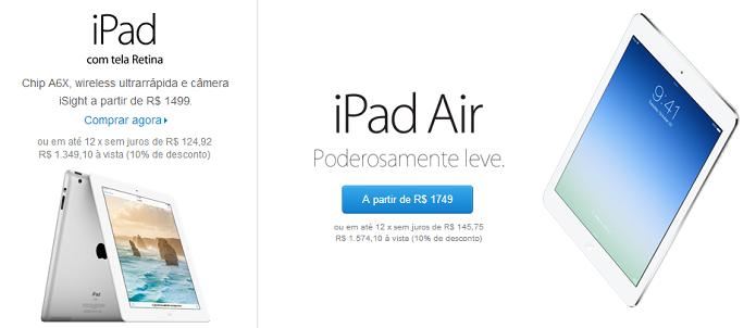 fec0a0cef Apple relança iPad 4 com tela Retina e aposenta o iPad 2   Notícias ...