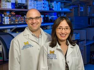 Pesquisadores George Mashour e Jimo Borjigin, autores da pesquisa que constatou atividades cerebrais após parada cardíaca. (Foto: Universidade de Michigan/Divulgação)