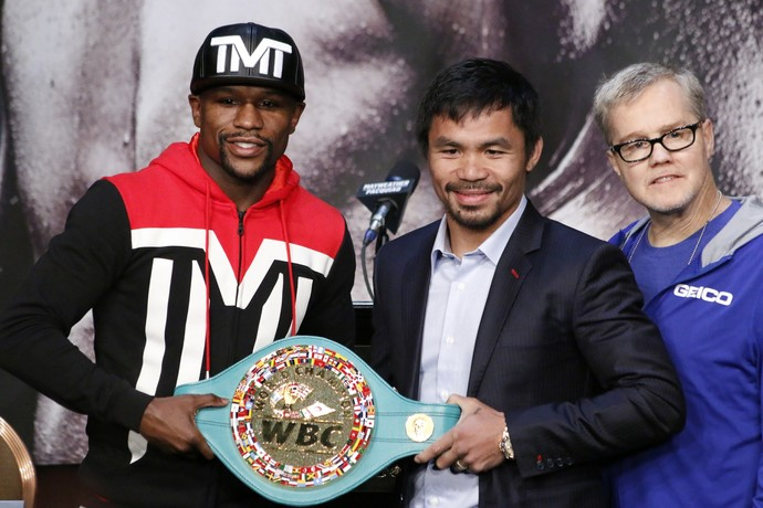 Encarada Floyd Mayweather e Manny Pacquiao, Boxe, Las Vegas (Foto: Evelyn Rodrigues)