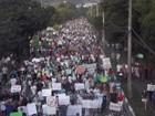 10 mil manifestantes protestam pacificamente pelas ruas de Ipatinga