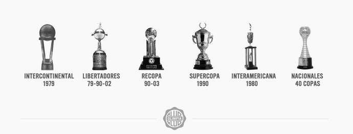 Em seu site, Olimpia se vangloria dos títulos internacionais (Foto: Reprodução)