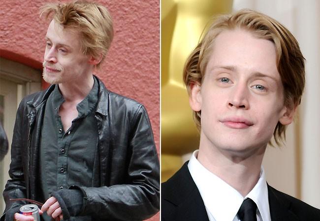 Macaulay Culink no início deste ano e em 2010: sensível diferença (Foto: The Grosby Group e Getty Images)