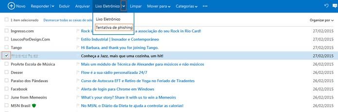 Denuncie golpes phishing em e-mails do Outlook.com (Foto: Reprodução/Barbara Mannara)