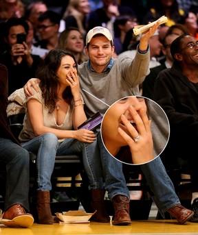 Mila Kunis e Ashton Kutcher (Foto: Getty Images)