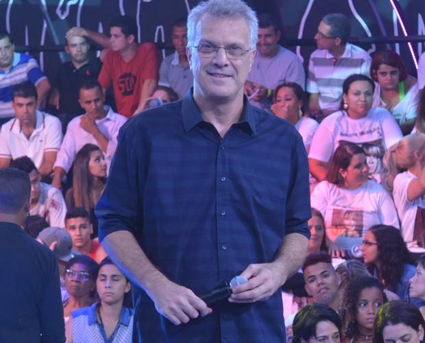 Pedro Bial no BBB 14 (Foto: Divulgação/TV Globo)