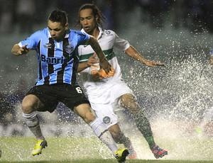 Pará e Everton Costa, Grêmio x Coritiba (Foto: Agência EFE)