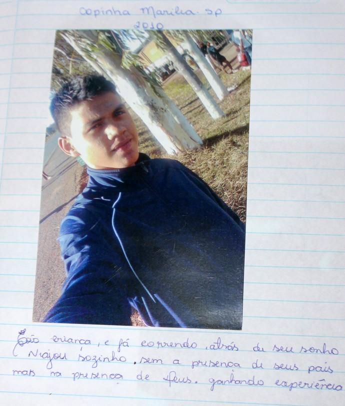 Rhuann, atacante do River-PI, tem caderno de momentos (Foto: Ramiro Pena)