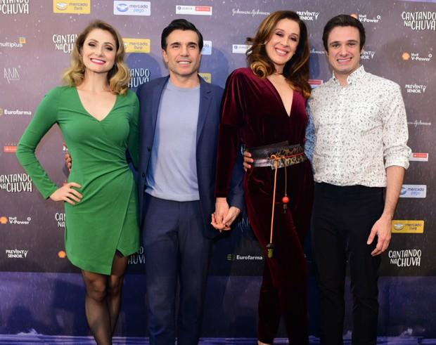 Bruna Guerin, Jarbas Homem de Mello, Claudia Raia e Reiner Tenente (Foto: Leo Franco/AgNews)