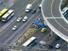Obras do BRT Transbrasil estão abandonadas no Rio