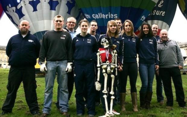 olimpíadas de inverno skeleton grã-bretanha voo de balão (Foto: Federação Internacional de Skeleton e Bobsled)