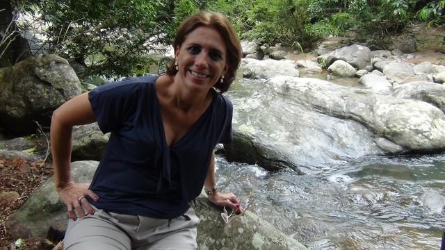 Rosana Valle em Itariri no Valle do Ribeira (Foto: Arquivo Pessoal)