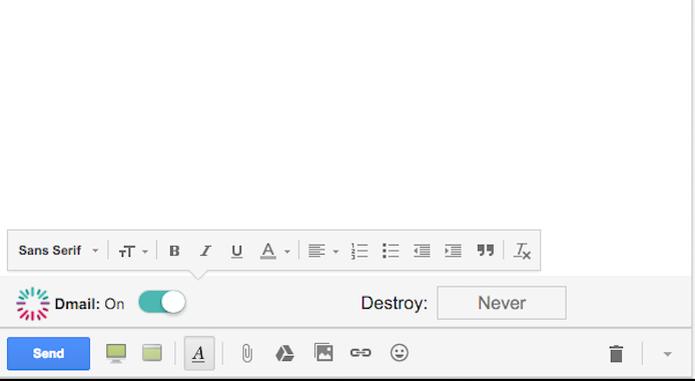 Dmail cancela e destrói e-mails já enviados há uma hora, um dia ou uma semana (Foto: Reprodução/Dmail)