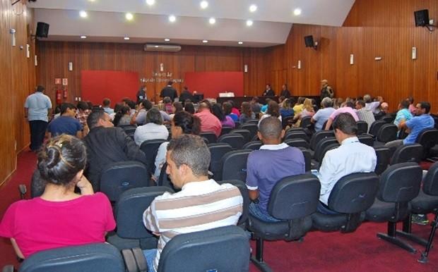 Plenário do Fórum Municipal Amaro Cavalcanti, que fica no Complexo Judiciário Maynard, localizado na Av. Dom Adelino, no Centro de Caicó (Foto: Sidney Silva)