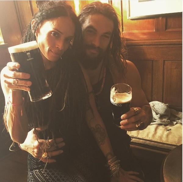 O ator Jason Monet com sua esposa, a atriz e cantora Lisa Bonet (Foto: Instagram)