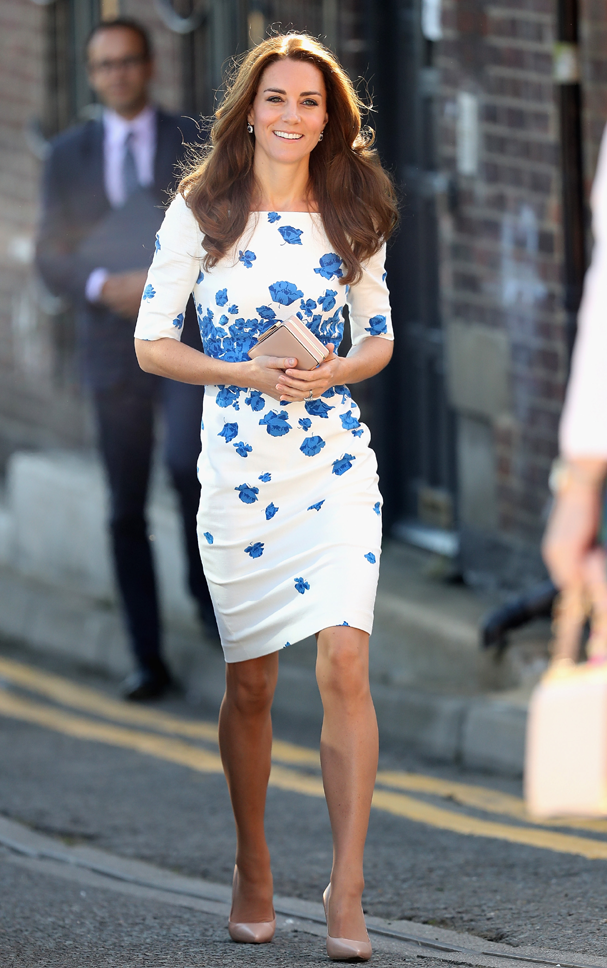 Kate Middleton usa vestido da L.K Bennett (Foto: Chris Jackson / Getty Images)