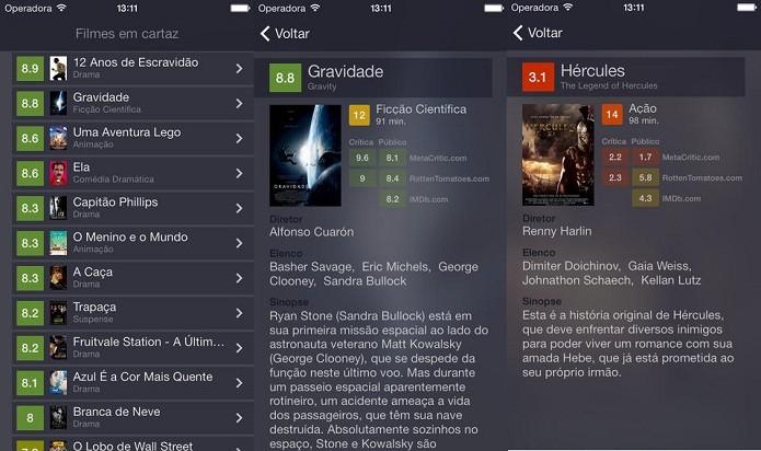 Use o Vale Ver para conhecer mais detalhes sobre os filmes antes de ir ao cinema (Foto: Divulgação/AppStore)