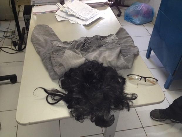 Material usado pelo detento na tentativa de fuga  (Foto: Catarina Costa/G1)