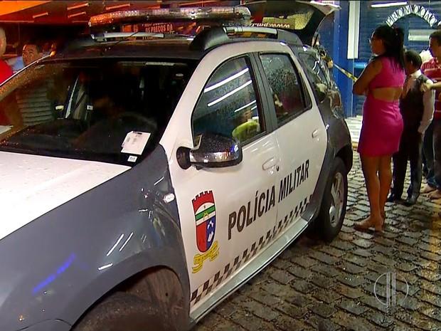 Farmácia assaltada fica na Avenida Hermes da Fonseca, no bairro do Tirol, em Natal (Foto: Reprodução/Inter TV Cabugi)