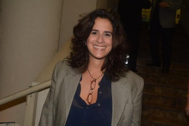 Lúcia Veríssimo na sessão para convidados da peça Meu Deus (Foto: Caio Duran / AgNews)