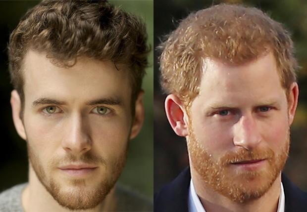 Murray Fraser vai interpretar príncipe Harry em filme da Lifetime (Foto: Reprodução/Lifetime e Getty Images)