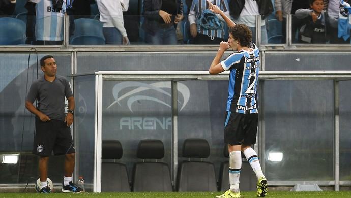 Grêmio x Joinville JEC Arena do Grêmio Galhardo gol (Foto: Lucas Uebel/ Divulgação Grêmio)