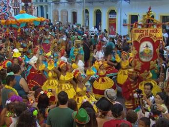 Maracatu Nação Pernambuco (Foto: Reprodução/TV Globo)