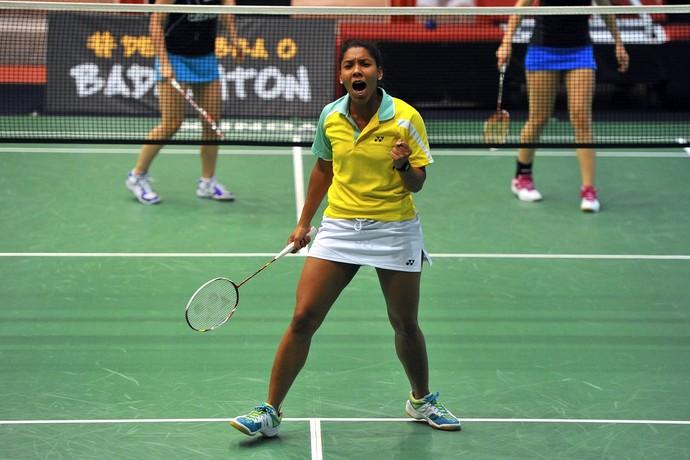 Luana Vicente badminton (Foto: João Pires)