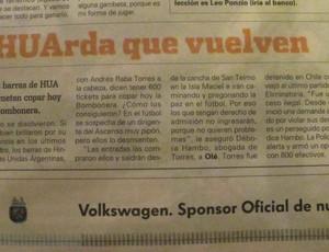 jornal Argentina movimentação jogo Seleção (Foto: Márcio Iannacca / Globoesporte.com)