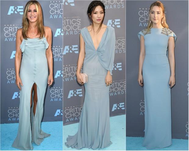 Jennifer Aniston, Constance Wu e Saiorse Ronan no Critic's Choice Awards (Foto: Getty Images)