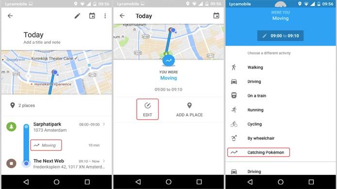 Jogadores podem editar seu Histórico de Localização no Google Maps para marcar onde jogaram Pokémon Go (Foto: Reprodução/The Next Web)