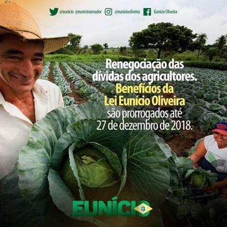 Eunício assume ser pai da lei que renegocia a dívida dos trabalhadores rurais (Foto: Reprodução)