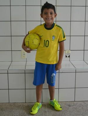 menino joão victor fortaleza Copa Confederações Seleção Brasil (Foto: Juscelino Filho)