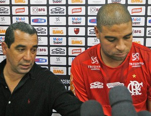 Adriano e Zinho, Flamengo (Foto: Bernardo Monteiro / VIPCOMM)