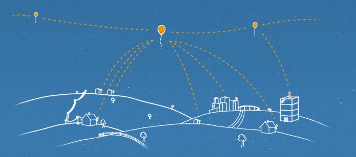 Funcionamento básico da rede de comunicação do projeto Loon (Foto: Divulgação/Google)