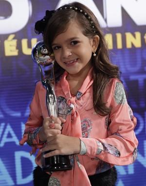 Mel Maia é a melhor atriz mirim do ano (Foto: Domingão do Faustão/ TV Globo)