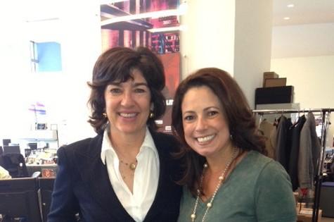A jornalista Renata Araújo visitou a CNN e tietou Christiane Amanpour (Foto: Divulgação)