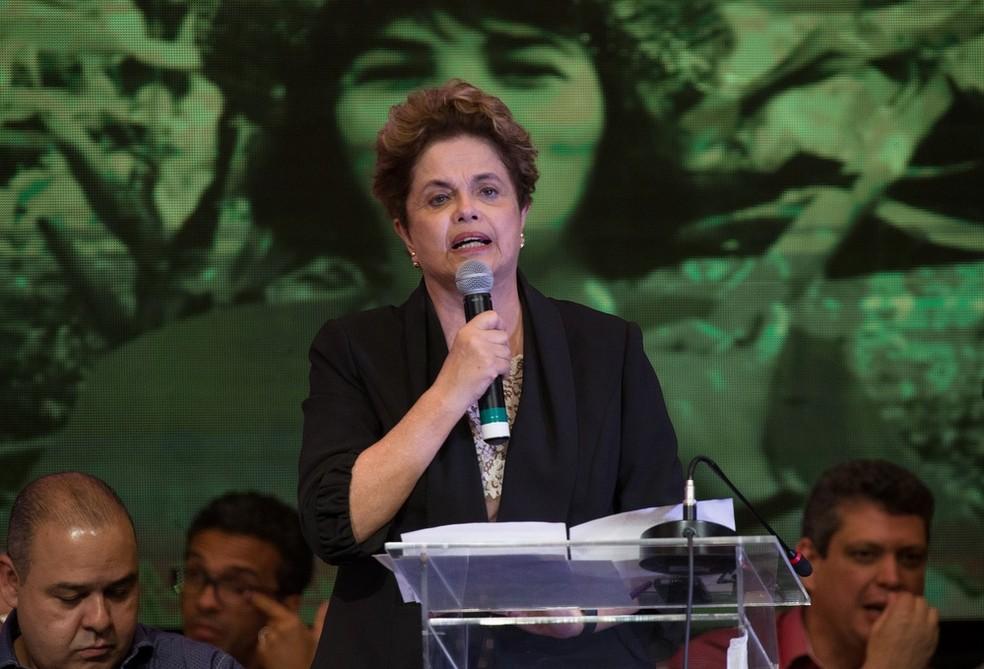 A ex-presidente Dilma, durante discurso no congresso do PT (Foto: Lula Marques/Agência PT)