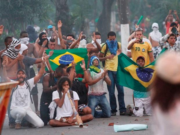 Protesto em Salvador, na Bahia, dia 20 (Foto: Edgar de Souza/Arquivo pessoal)