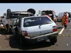 Acidente entre carro e van deixa feridos na BR-262 em Uberaba