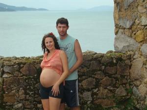 Casal veio há quatros na Fortaleza de São José da Ponta Grossa (Foto: Fábio Tacca/Arquivo pessoal)