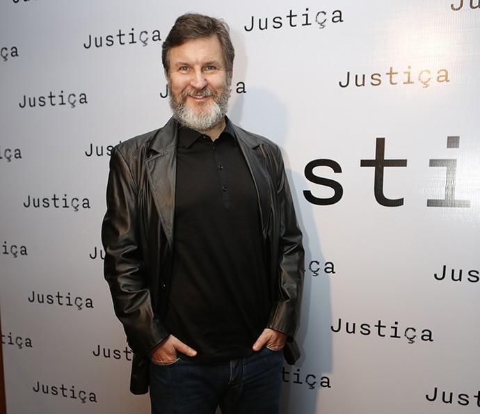Antonio Calloni no evento de lançamento de Justiça, nova minissérie da Globo (Foto: Ellen Soares / Gshow)