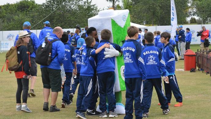 Bélgica Mascote Torneio Internacional de Nações sub-12 (Foto: Vitor Geron)