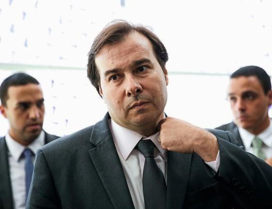 O presidente da Câmara,Rodrigo Maia.Ele cobrou uma doação de R$ 205 mil da OAS (Foto: Marcelo Camargo/Agência Brasil)