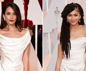 Par de jarros? Atrizes surgem com vestidos quase idênticos no Oscar