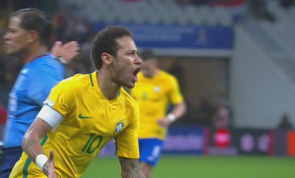 O jogador Neymar (Foto: Reprodução/TV Globo)