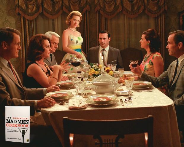 DA TELA PARA A MESA Acima, um jantar na casa do protagonista Don Draper, de Mad men.  Um novo livro de receitas traz entradas, pratos, sobremesas e drinques retirados da série (Foto: Divulgação)