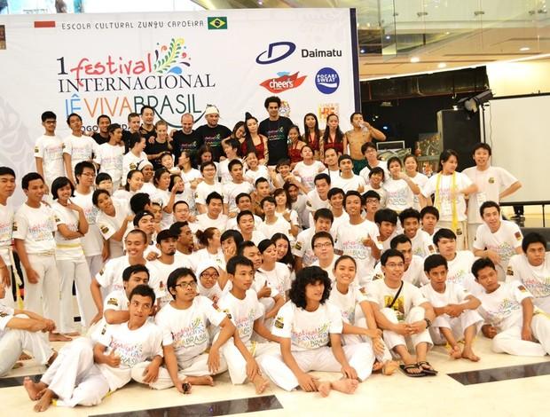 1ª Festival Internacional Lê Viva Brasil em Surabaya, na Indonésia. (Foto: Divulgação)